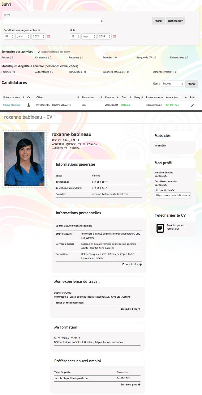 Suivi et CV automatisé - emploi paramédicaux